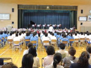 六郷中学校で演奏会を実施しました