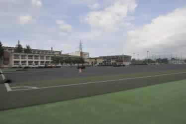 人工芝サッカー場が新しくなります