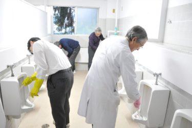 青森山田クリーン大作戦 トイレ清掃実施と野球研修会館清掃