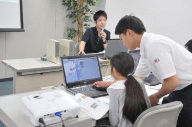 小学生対象プログラミング教室に情報処理科生徒が参加しました