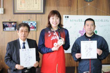 日本代表として活躍する先輩が来校しました