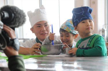 調理科生徒と園児の交流会「お菓子づくり」を実施しました