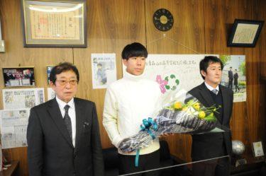 箱根駅伝で活躍した田澤廉選手訪問
